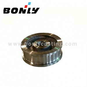 Precision investment carbon steel coated sand Crane wheel