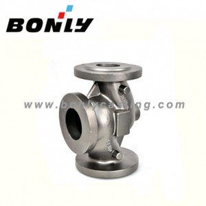 Investment casting Carbon steel three-way water valve