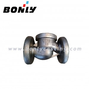 CF8/304 stainless steel PN16 DN65 two way valve body
