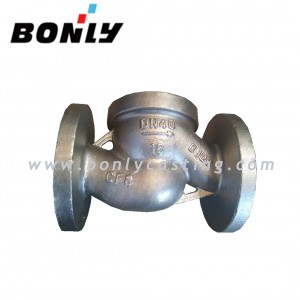 CF8/304 stainless steel two way valve body