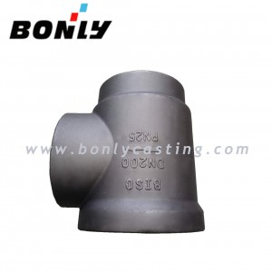WCB PN25 DN200 Right Angle Valve
